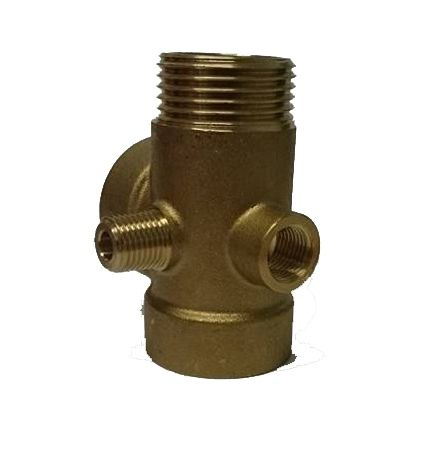 5 Way Brass Connector 1/4""