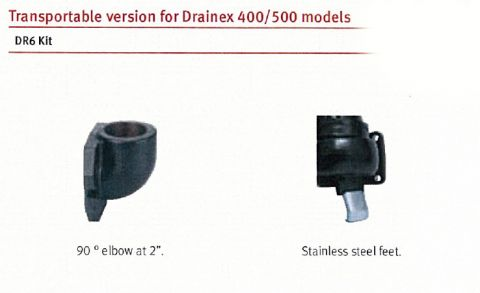 Espa Drainex 400/500 DR6 Install Kit