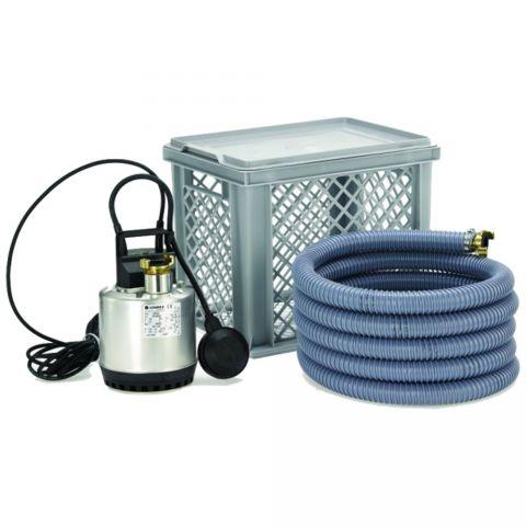 Lowara Doc 3/A Flood Kit (1~ 230V) - Includes Pump, Filter Cage and Hose