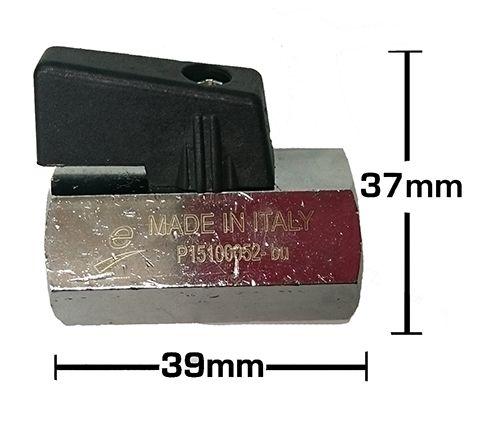 1/4″ F x F Brass Mini Ball Valve