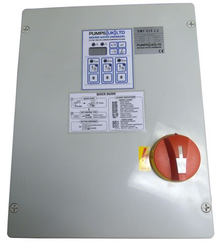 PUK SMF S3S 2.2 - Single Phase Triple Pump Multifunction Control Panel